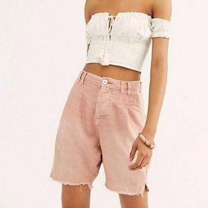 Free People Women's Utility Braided Rose Shorts